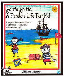 Yo Ho, Yo Ho, A Pirate's Life for Me! Advanced crafts for kids.  From treasure maps to skeleton keys and treasure maps, there are all kinds Pirate crafts and activities for kids to make.  Perfect for camps, birthday gifts and Talk Like a Pirate Day