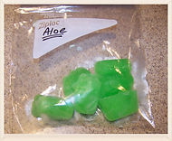 Kidfunideas.com tip: freeze aloe in ice cube trays to sooth burns