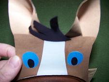 Kidfunideas.com horse paper bag puppet