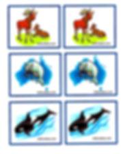 Kidfunideas.com Arctic animals match game printout card