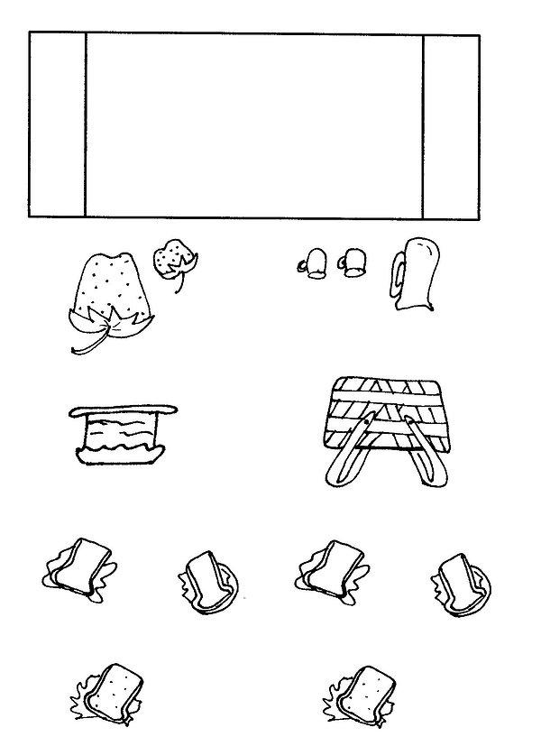Kidfunideas.com ladybug picnic craft/picnic pattern sheet