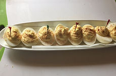 Kidfunideas kitchen hack - cover deviled eggs afte inserting toothpicks