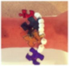 Kidfunideas..com Autism Awareness puzzle piece bracelet craft