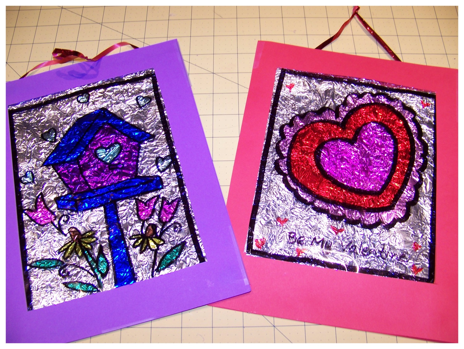 Valentine Stained Glass craft