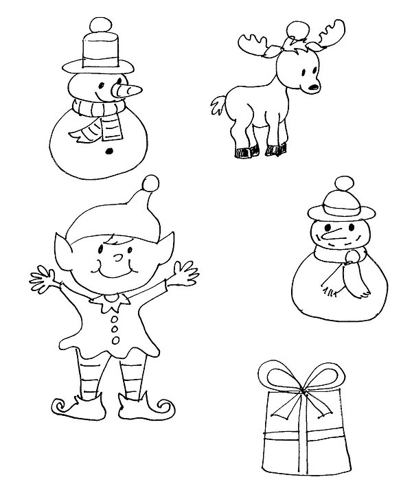 Kidfunideas.com holiday charm bracelet charm pattern sheet picture