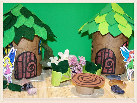 Kidfunideas.com Little Fairy house craft for kids.  Make this easy Fairy craft for kids and have a magical place for your Fairys