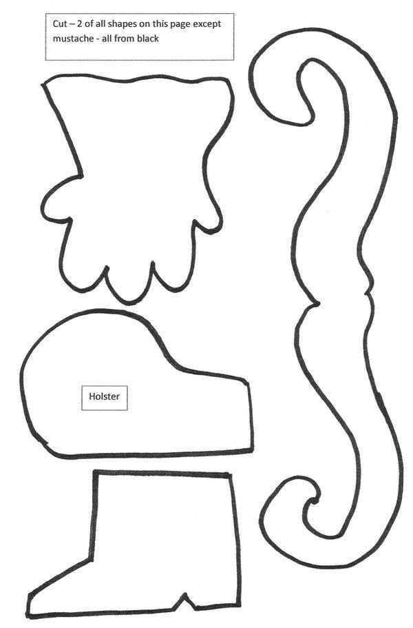 Kidfunideas.com rustler paper bag puppet pattern
