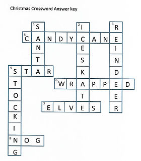 Kidfunideas.com Christmas crossword puzzle answer sheet picture
