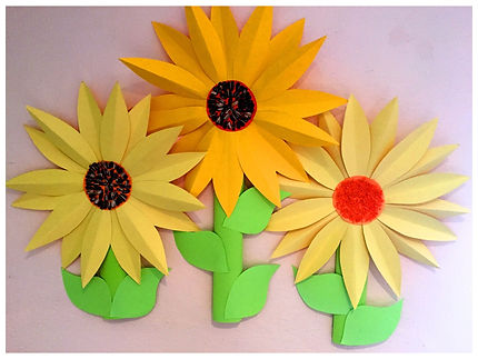 Kidfunideas.com Summer Sunflower craft for kids. perfect as part of a nature or flower theme