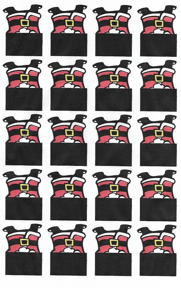 Kidfunideas.com Santa Chimney treats - Santa pattern sheet art