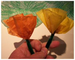 Color changing flower magic trick