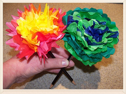 Kidfunideas.com Spring flower pencil topper craft for kids.  Celebrate Spring and make these pretty pencil topper flowers with kids.