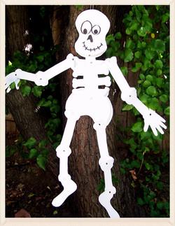 Spooky kooky Halloween Skeleton