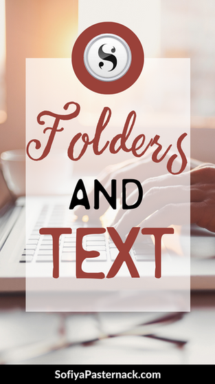 TUTORIAL: Scrivener 3 Folders and Text Documents
