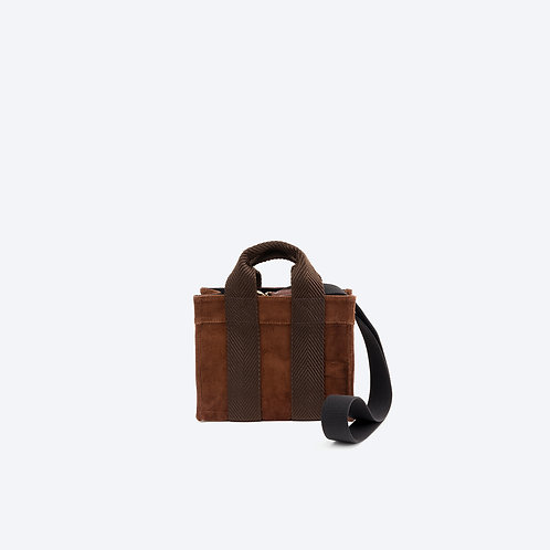 TOTE XS- Brown Corduroy/Brown webbing