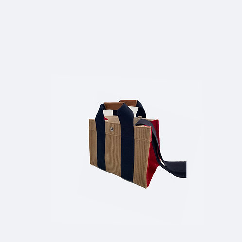 TOTE S -Camel Corduroy/red Flannel