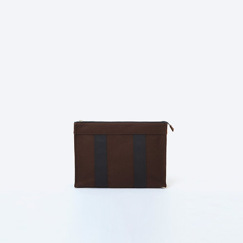 DOCUMENT POUCH -Camel/Brown/Black Flannel