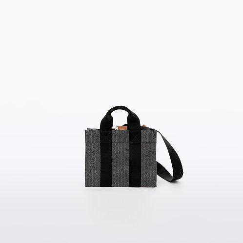 TOTE XS- Grey Striped Flannel