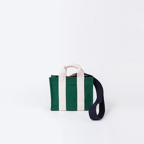 TOTE XS- Green Canvas