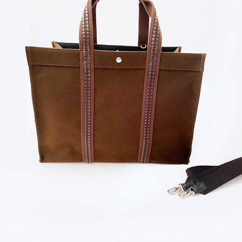 TOTE XL -Brown Flannel