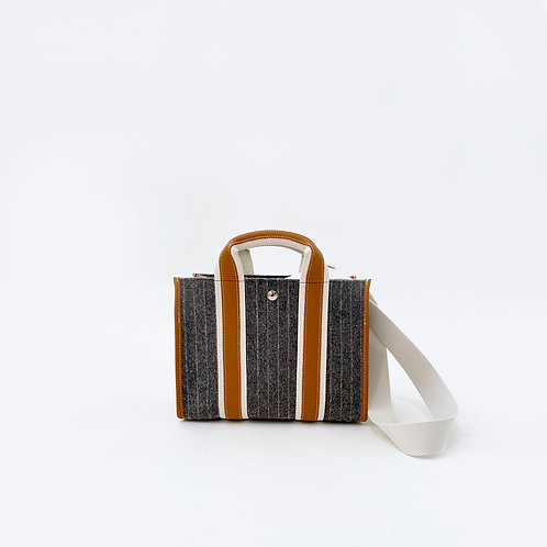 UPPER EAST S - Grey Striped Flannel