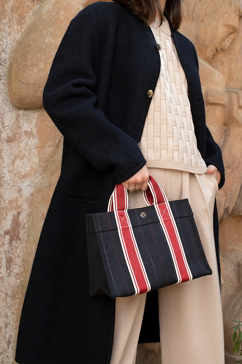 TOTE SMALL - Navy Flannel Suit