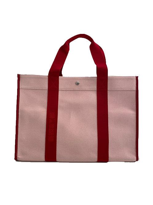 TRAVELLER XL - Pink Oxford Red Logo Strap