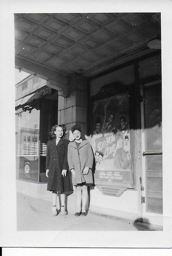 Sunflower Theatre outside Rose Spangler