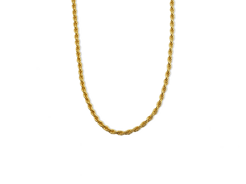 TWISTED NECKLACE GOLD PLATED