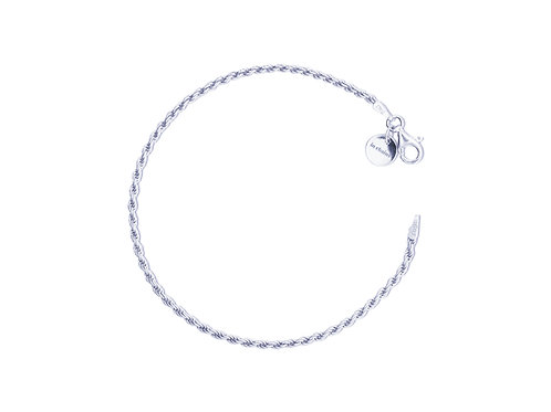 SMALL SILVER BRACELET TWISTED