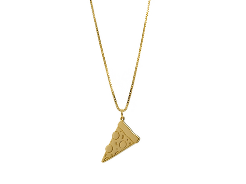 PIZZA KETTE GOLD IN CHAINS JEWELRY