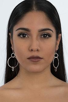 Handcrafted small hoop sterling silver earrings