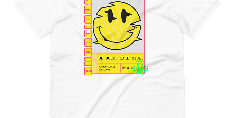 Smiley Glitch Short-Sleeve Unisex T-Shirt