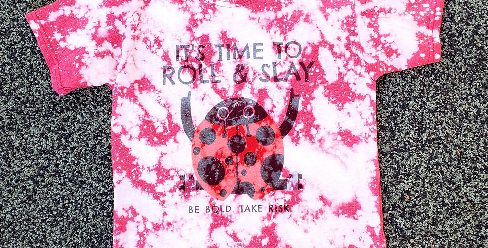 Lady Bug Bleached Tee - Youth
