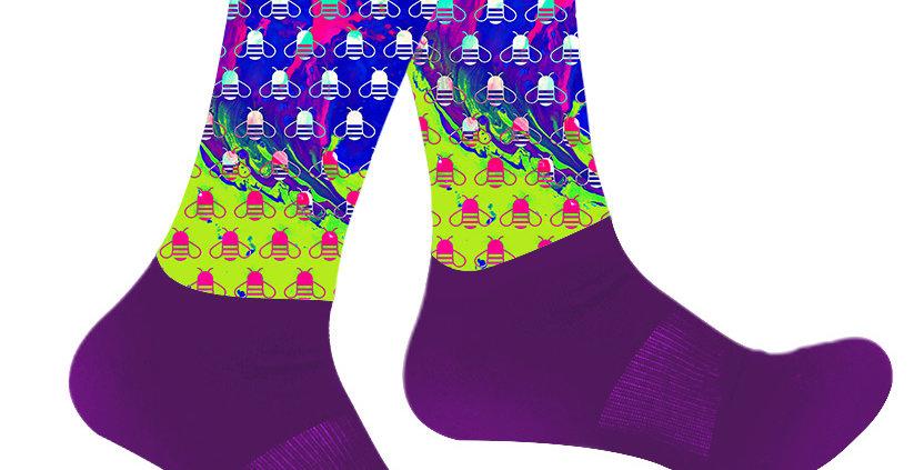 Lucid Bees Athletic Socks