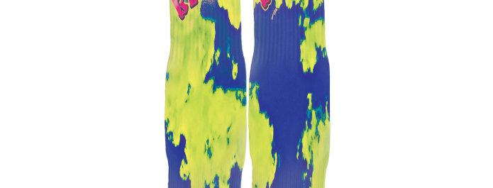 Navy Blue Acid B.B.T.R. Streetwear Socks