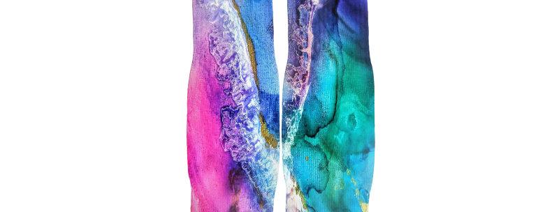 Ombre Waves Of Joy Athletic Socks
