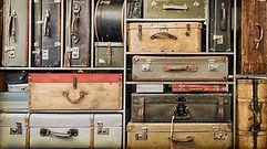 Vintage Luggage in Shelves