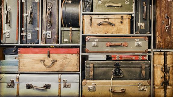 Bagages Vintage étagères