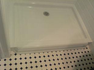 kohler shower pan and vintage tile