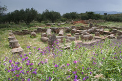 Aptera Roman city in spring