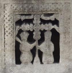 Church wall carving