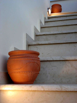 Steps to roof terrace