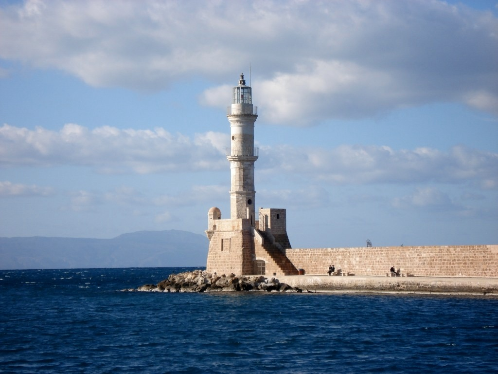 Eqyptian lighthouse on the harbour