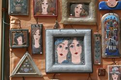 Art shops fill the tiny streets