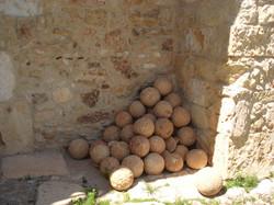 Turkish canonballs at Aptera
