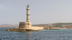 Egyptian-built lighthouse at Chania