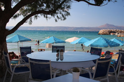 Beach cafe at Almyrida