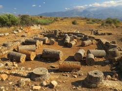 Roman temple remains at Aptera
