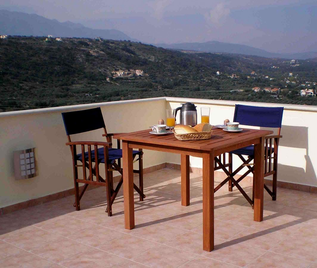 Roof terrace - perfect for breakfast